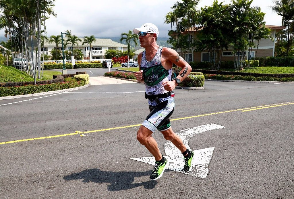 BRINGING IT HOME: Canadian Lionel Sanders looks strong on the run as he heads back towards the IRONMAN World Championship finish line in Kailua-Kona, Hawai`i. (Photo by Tom Pennington/Getty Images for IRONMAN)