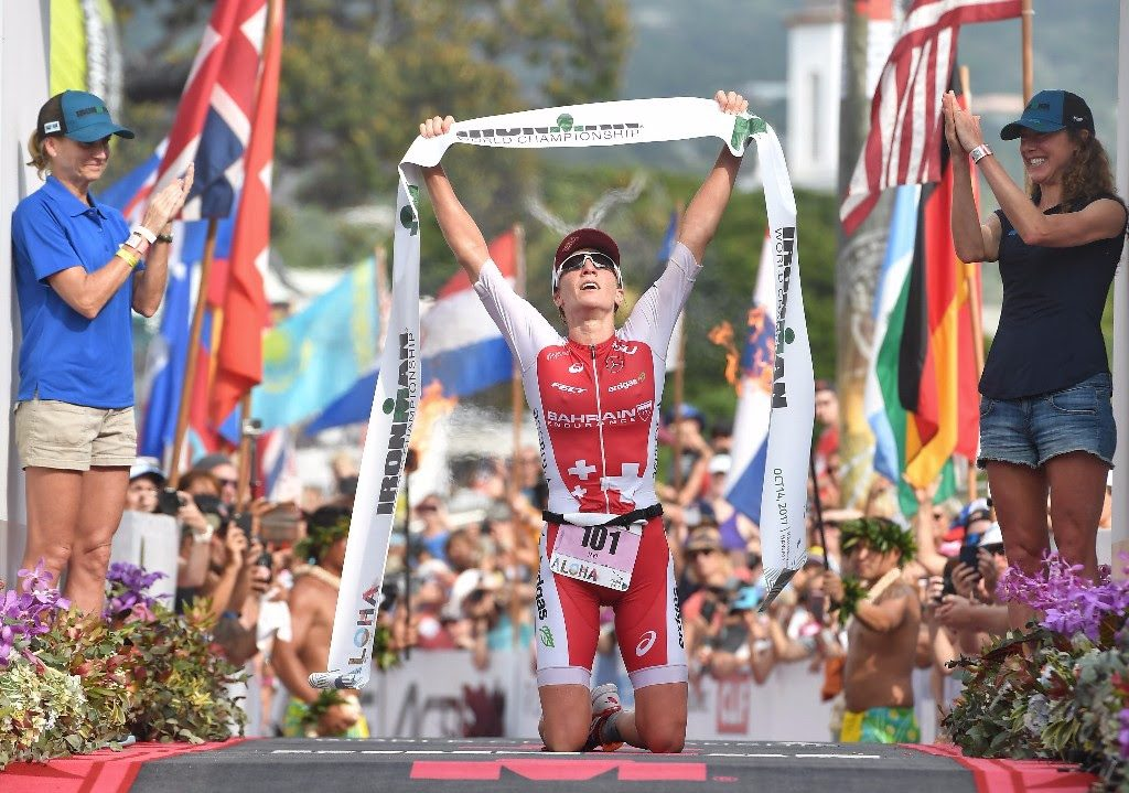 THREE-PEAT: Switzerland's Daniela Ryf claims her third-consecutive IRONMAN World Championship win, adding to her collection of three IRONMAN 70.3 world titles. (Photo by Sean M. Haffey/Getty Images for IRONMAN)