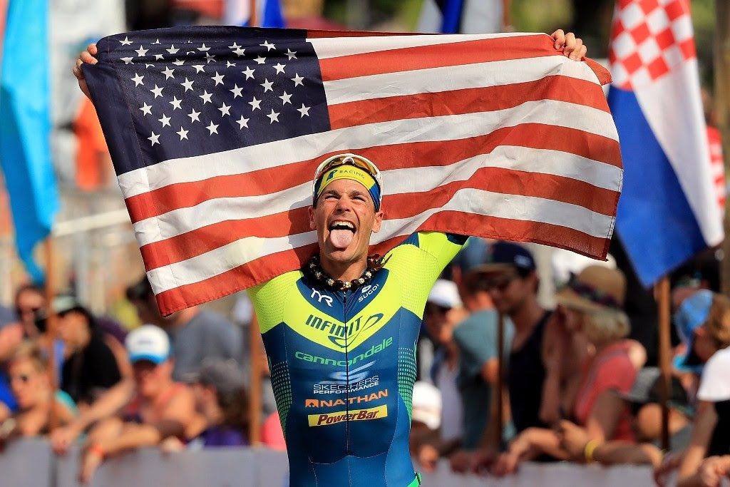 AMERICAN DREAM: Andy Potts claims seventh and is the first American male across the finish line at the 2017 IRONMAN World Championship in Kailua-Kona, Hawai`i. (Photo by Sean M. Haffey/Getty Images for IRONMAN)