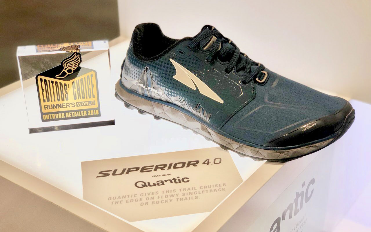 "Altra's Superior 4 won Runner's World ""Editor's Choice"" for Best Lightweight Trail Shoe at the 2018 Outdoor Retailer Summer Market."