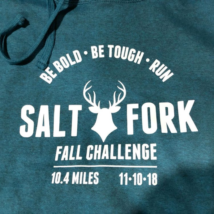 2018 Salt Fork Trail Challenge hoodie