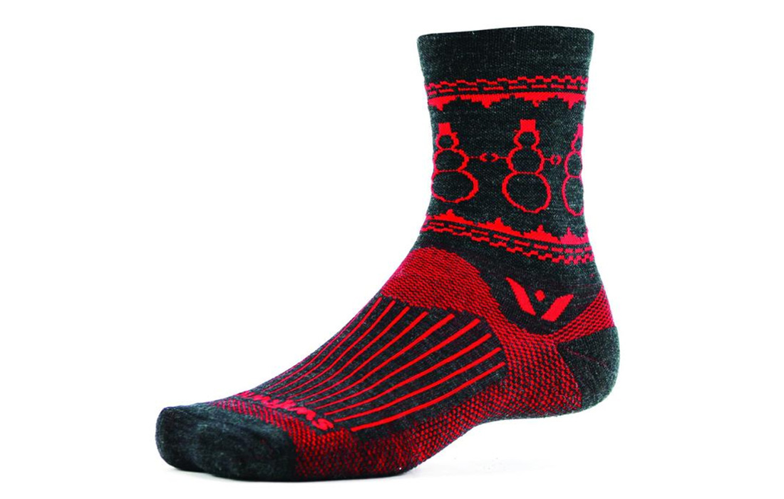 Swiftwick Snowman Socks