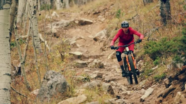 Pro mountain biker Claire Buchar