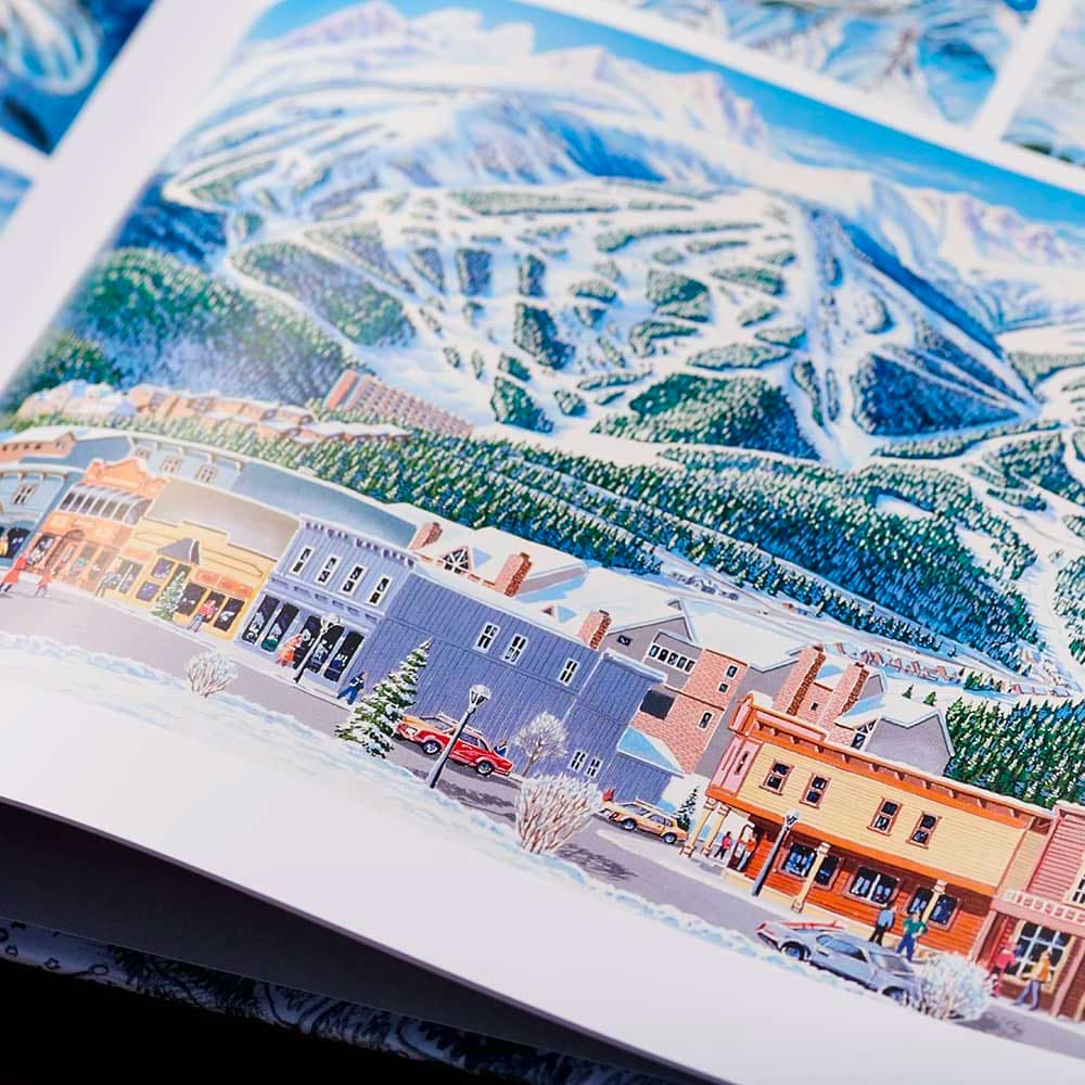 The perfect book for any skier or snowboarder out there, The Man Behind the Maps features over 200 ski resort trail maps hand-painted by James Niehues.